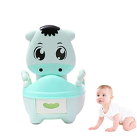 Kids Cow Potty Portable Vaca Urinals Toilet Seat Folding Chair 46*35*30cm Safety Durable Unisex Baby Urinals Potty for Children