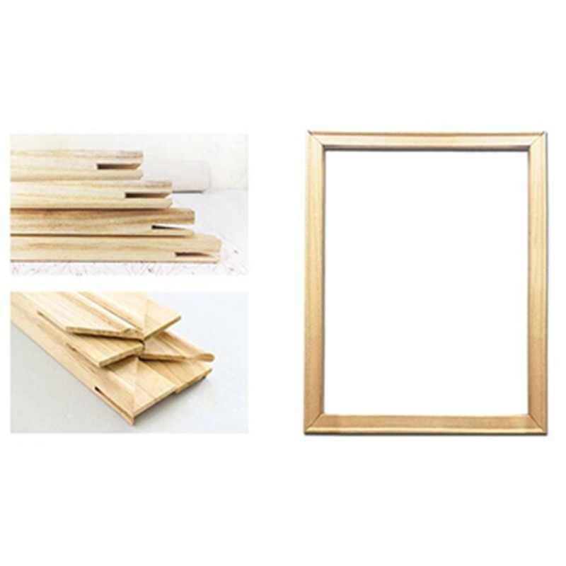 Frame For DIY Digital Painting By Numbers Modern Wall Art Canvas Painting Frame Home Decor Wooden Frame 40x50cm