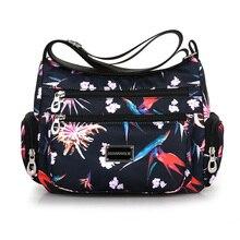 Fashion Shoulder Bag For Women Waterproof Nylon Lightweight flowers Messenger Cute Fresh Leisure Or Travel Colors Hobos