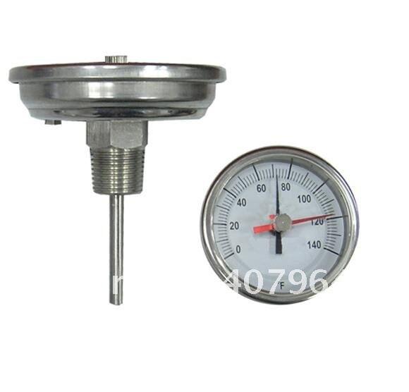 """Промышленный биметаллический термометр с обратное соединение, корпус SS304, красный poniter dial """" быстрая, высокое качество"""