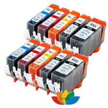 10 Pcs PGI 450 CLI 451 compatible ink cartridge for canon PIXMA IP7240 MG5440 MG5540 MG6440 MG6640 MG5640 MX924 MX724 IX6840 картридж easyprint ic cli451bk xl черный black для canon pixma ip7240 ip8740 ix6840 mg5440 mg5540 mg5640 mg6340 mg6440 mg6640 mg7140 mg7540 mx924