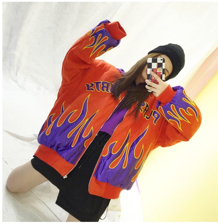 Casual Giacca Lungo Cardigan Fumetto Cappotto Hip Harajuku Dimensioni Wear Allentato Imbottito Bf Stampato Di Grandi Street Hop Cotone Donne Disegno Del qR7anFxwpw