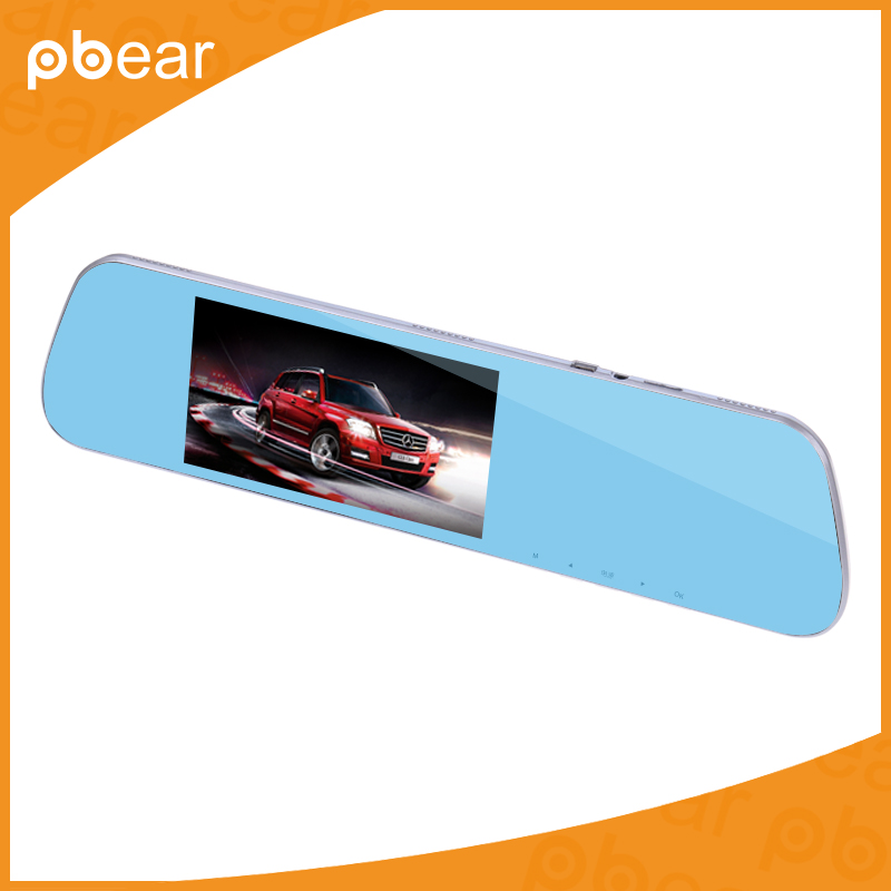 ФОТО Pbear 5.0 dual Lens Inch Rearview Mirror Driving Recorder HD 1080P Night Vision Wide Angle Rear View Mirror Tachograph