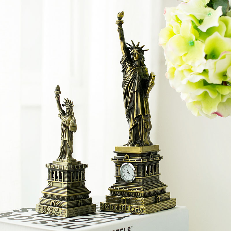 Large USA Retro Statue Of Liberty Model Tourist Souvenir Ornaments Photography Props Decorations Dies Wedding