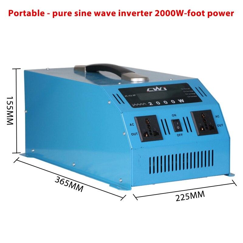 Портативный 2000 Вт автомобильный инвертор 12 В 24 В до 110 220 напряжение инверсор конвертер Мульти Защита мощность Инвертор 12 В до 220 В