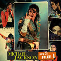 MJ Michael Jackson Classic Movie Poster Cartel de Papel Kraft Marrón de La Vendimia Decoración 42*30 CM Etiqueta de La Pared