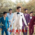 2017 new arrival Men's clothing clothes piece set the groom suit best man set dress fashion size S M L XL 2XL
