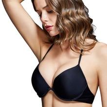 XARKE Women Swimsuit Push Up Black Bikini Top Two-Piece Separates Swimwear Tops Halter Padded Bikinis Adjustable Bathing Suits недорого
