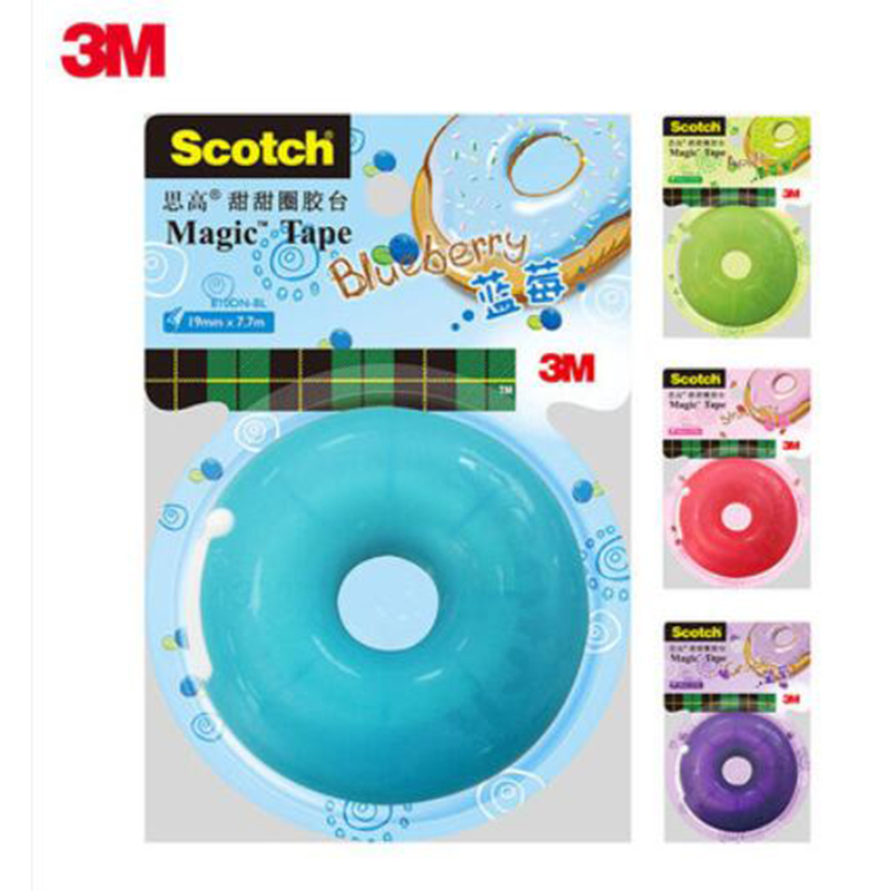 3M Scotch-Brite Donut Adhesive Tape Dispenser Handsel A Roll Of Invisible Tape 810 Tape Office Student Stationery