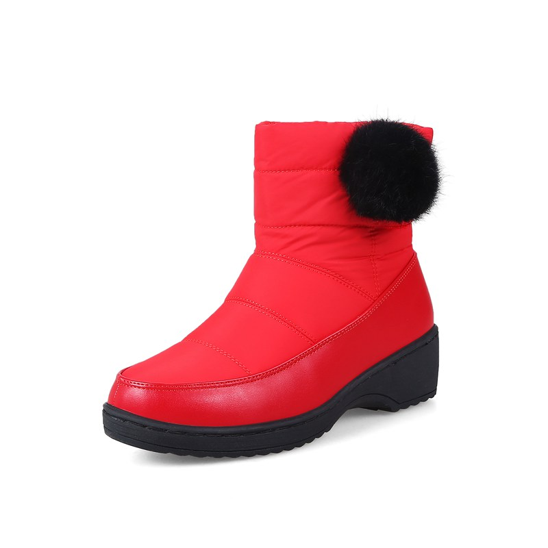 FAMSO 2017 Big Size34-44 3Colors Shoes Women Boots Designer Winter Snow Boots Sweet Platforms Winter Lady Waterproof Snow Boots