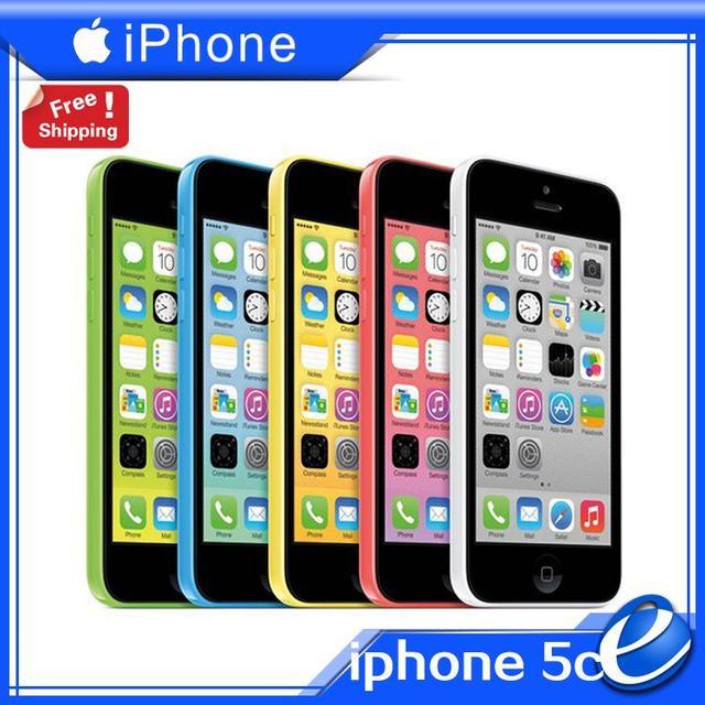 Оригинальный iPhone5c завода разблокирована Apple , iphone 5C iOS телефон 1 г оперативной памяти 16 г ROM 8MP WIFI GPS 4 г цвет загерметизированная используется мобильный телефон гарантии