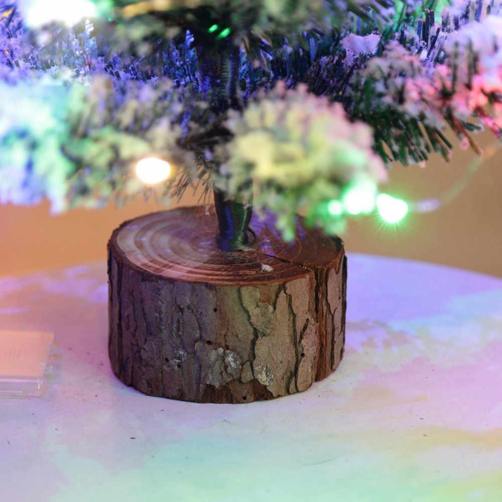 Поливинилхлоридная новогодняя елка искусственный сток Заснеженная рождественская ёлка светодиодный разноцветные лампы праздник окно аксессуары 50 см Oct26