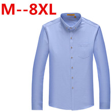 9XL 8XL 7XL 6XL 5XL 4XL Mens Shirt Long Sleeve Slim Fit Clothing Man Dress Shirts Vestidos Camisa Social Masculina Chemise Homme
