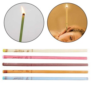 Image 3 - 10pcs/lot Ear Wax Removal Candle Cleaning Candles Healthy Care Hollow Coning Treatment Indiana Therapy Fragrance Wax Candle Tool