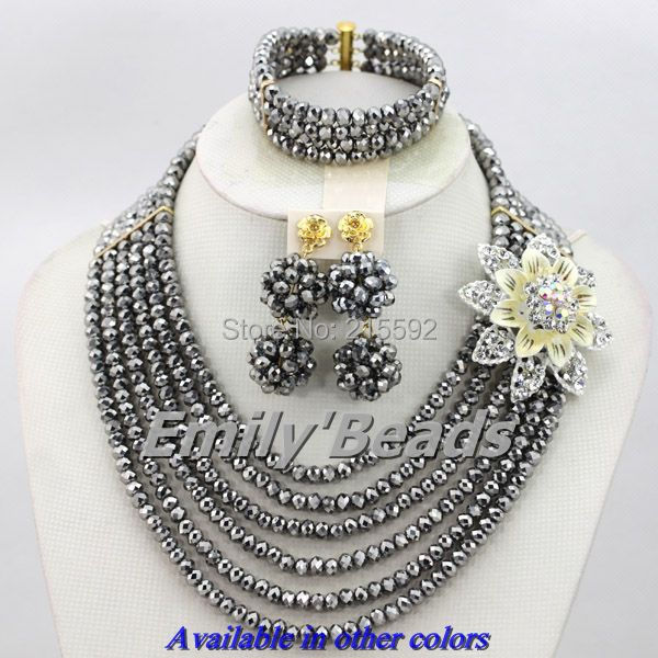 wedding african beads jewelry set 6 layers african costume jewelry
