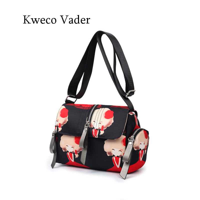 High Quality Women Crossbody Bag 2016 Handbags Waterproof Canvas Bags Nylon Travel Shoulder Bags Zipper Casual Handbag Sac Femme
