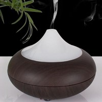 Ultrasonic Diffuser Essential Oil Aroma Aromatherapy Humidifier LED Wood Grain Air Purifier Mist Maker S0D35 T16