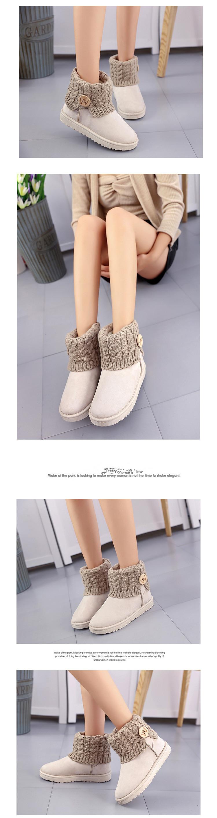 59d965acd25 Classic flat plush ankle boots for women Australia black causal fur cotton  snow boots Button warm women winter shoes NBT1068