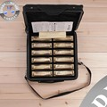 HERO M1018 Bronze 10 Hole 12 Tone Blues Harmonica Set (with carrying case)