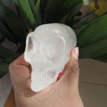 @RARE !!  422g Natural Green Aventurine Hand Carved Crystal Skull Gemstone Allien Meditation Healing Fengshui