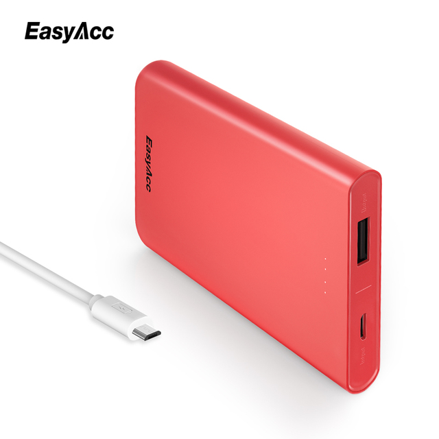Easyacc 10000mah Power Bank For Xiaomi Mi 5V/2A USB Port Slim Portable Universal External Battery Mobile Fast Charger