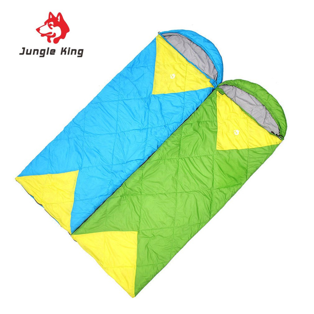Jungle King Windproof Warm Sleeping Bag Camping Hiking Waterproof Nylon Outdoor Drawstring Hood Comfortable Sleeping Bag Bed