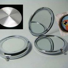10 шт. DIY компактное зеркало с алюминиевым листом деталей для вышивки крестом с бархатной сумкой