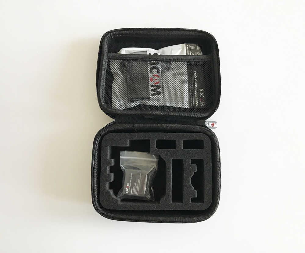 Batterie d'origine 2 pièces 900mAh batterie Li-ion Rechargeable + double chargeur + boîte de rangement de taille moyenne SJCAM pour la série SJ4000 SJ5000