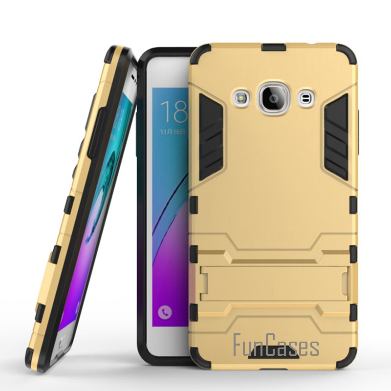 For Samsung J3 Pro Case Silicon Plastic Kickstand Hard Back Mobile Phone Cover Cases For Samsung Galaxy J3 Pro J3110 5.0 inch ^