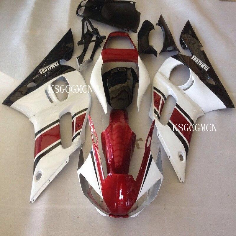 Carénages MOTO adaptés pour Yamaha YZF R6 1998-2002 kit de carénage MOTO noir blanc rouge YZF-R6 98 99 00 01 02