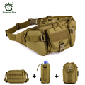 Tactics Waist Pack Waterproof Climbings Outdoors + 3 Molle Small Pouches Militray Waist Bag,Unisex Tactics Gear Combo Bundle