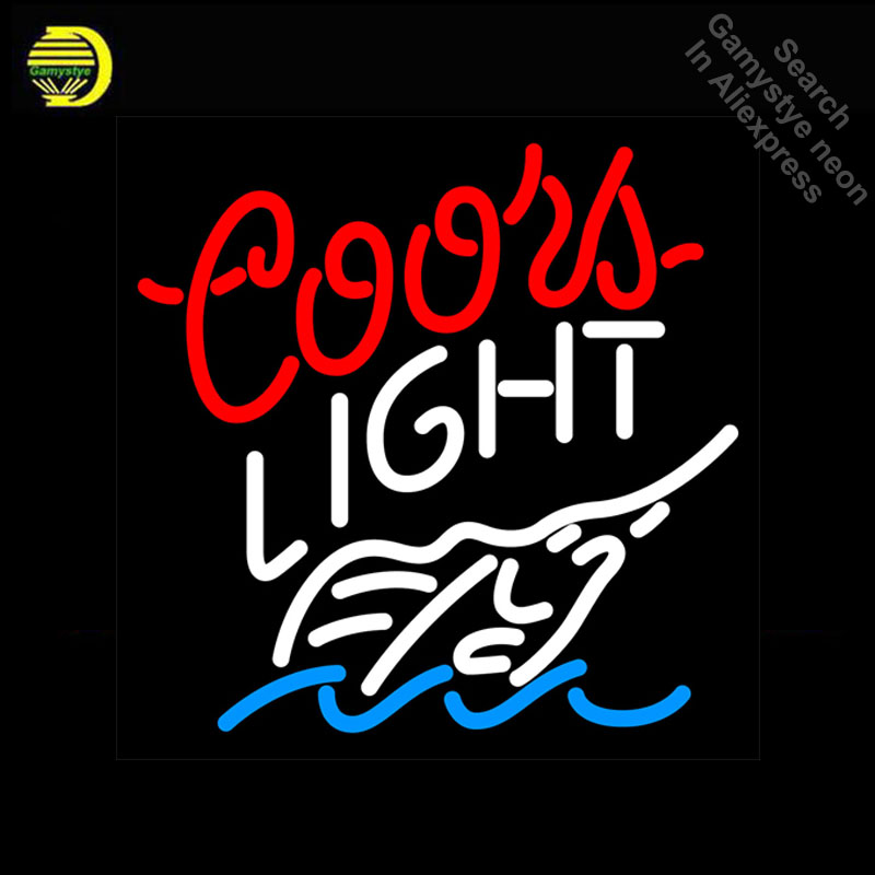 Neon Sign for Coors Light Swordfish Neon Bulb sign handcraft neon signboard Decorate Hotel wall neon wall lights anuncio luminos image