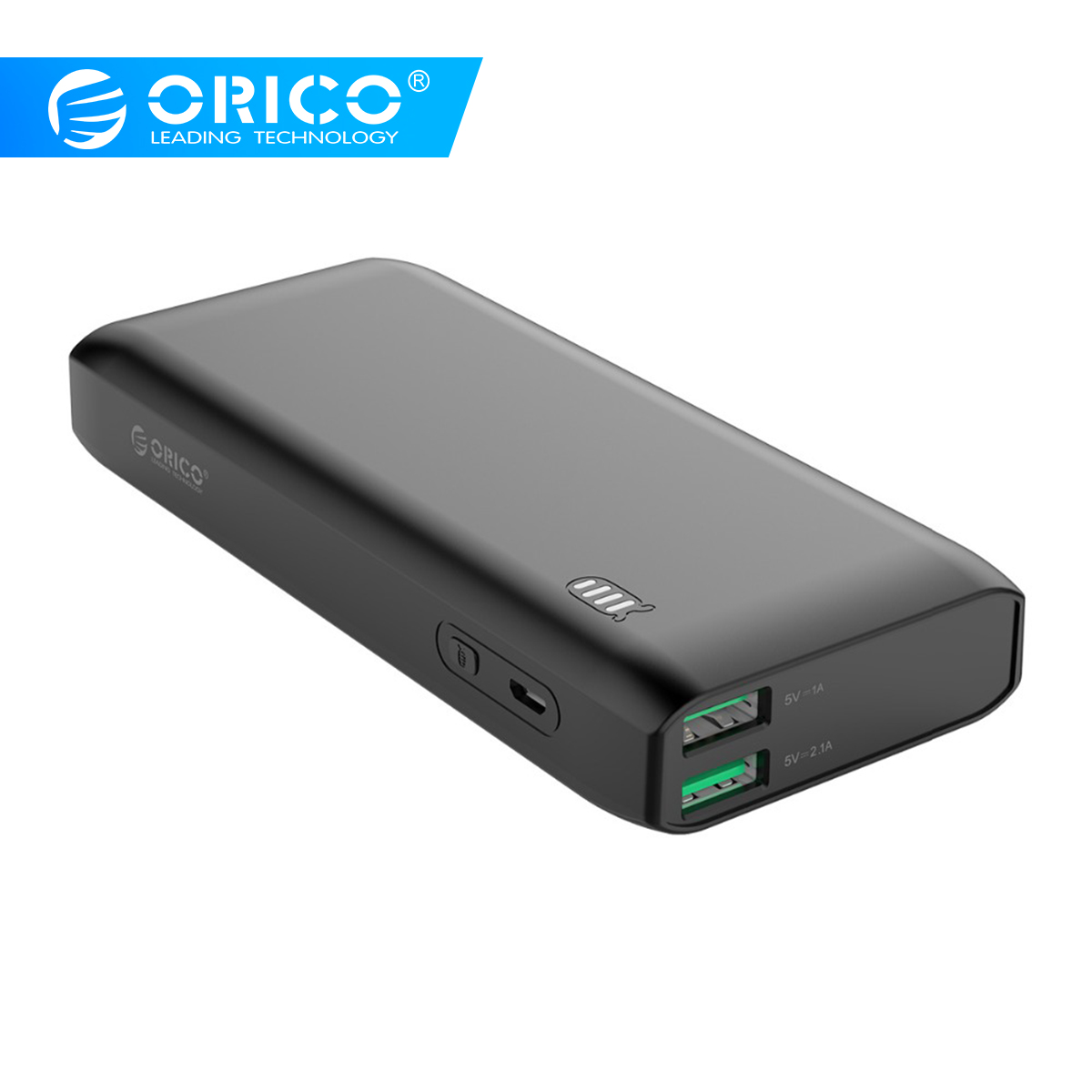 ORICO Power Bank 10000mAh 20000mAh External Battery Bank 12W Charge Powerbank With Dual USB Two-way Quick Charge Power Bank