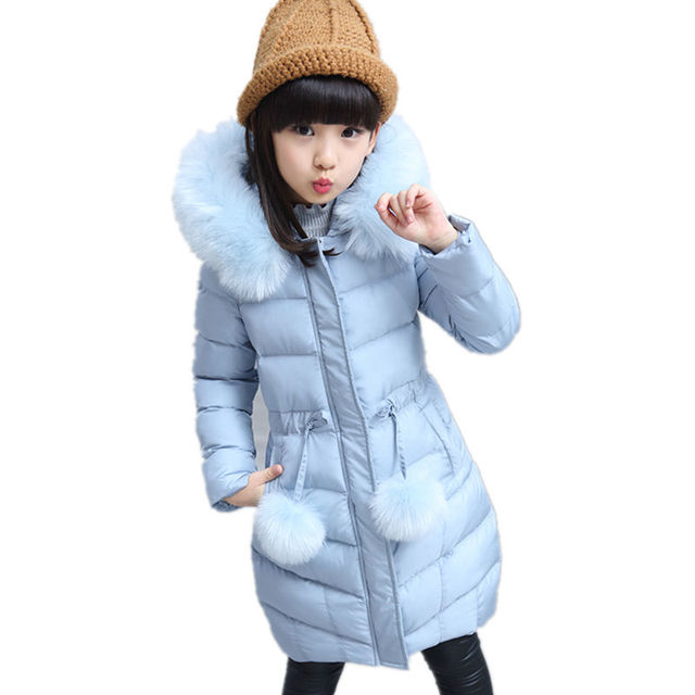 Girls Winter Coat Casual Warm Long Thick Hooded Jacket for Girls Fashion Teenage Girls Kids Parkas Girl Clothing