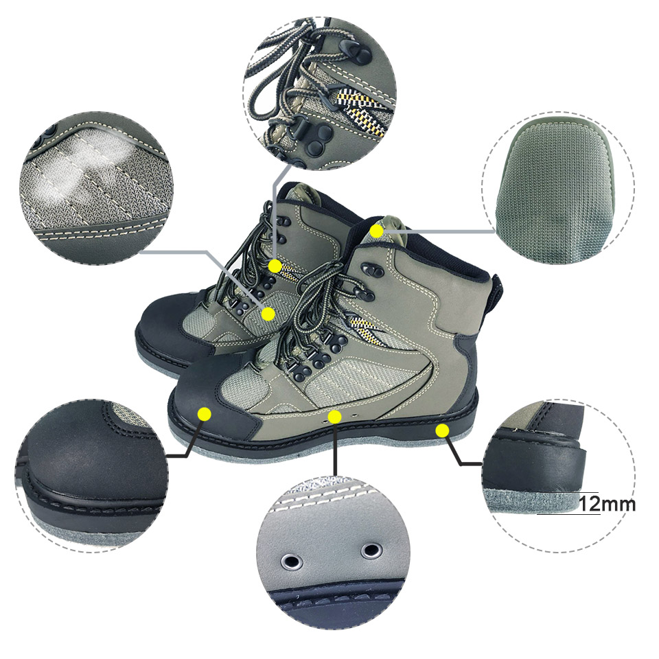 Fly Fishing Wading Shoes Aqua Sneakers Rock Sports Felt Sole Boots No slip Outdoor Hunting Water Waders For Fish Pants Clothing-in Fishing Waders from Sports & Entertainment    3