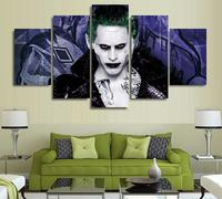 5 Panels Wall Art 5 Panels Wall Art Suicide Squad Harley Quinn Joker Movie Poster Painting
