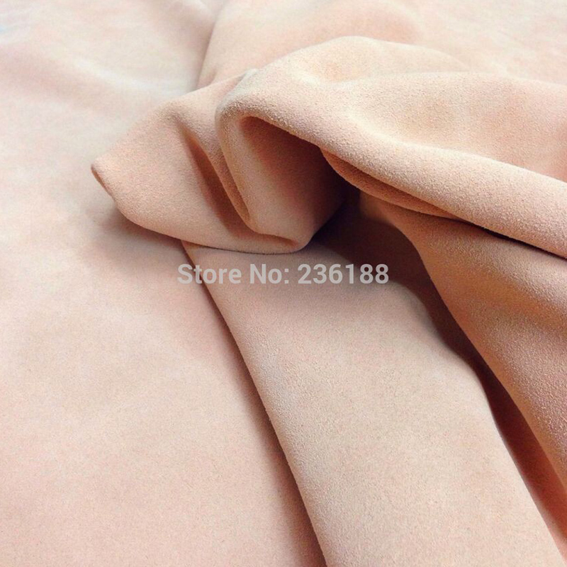 Wholesale Light Pink Genuine Cow   Suede     Leather   Fabric for DIY/Shoes/Boot/Handbag,Free Shipping