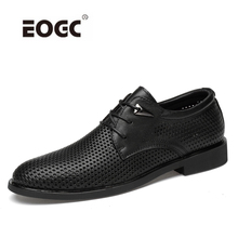 Full grain leather oxfords shoes men handmade plus size flats mesh office business Formal wedding dress