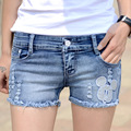 The new spring and summer 2016 hole denim shorts female Korean large shorts shorts manufacturers selling flash code