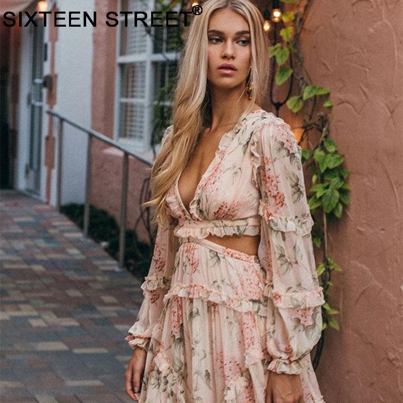 2018 New summer beach mini dress woman spaghetti strap cross backless sexy deep v print bodycon