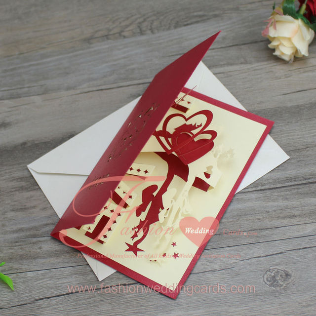 New design red and cream ivory 3d love handmade birthday invitation new design red and cream ivory 3d love handmade birthday invitation cardsgreeting cards filmwisefo