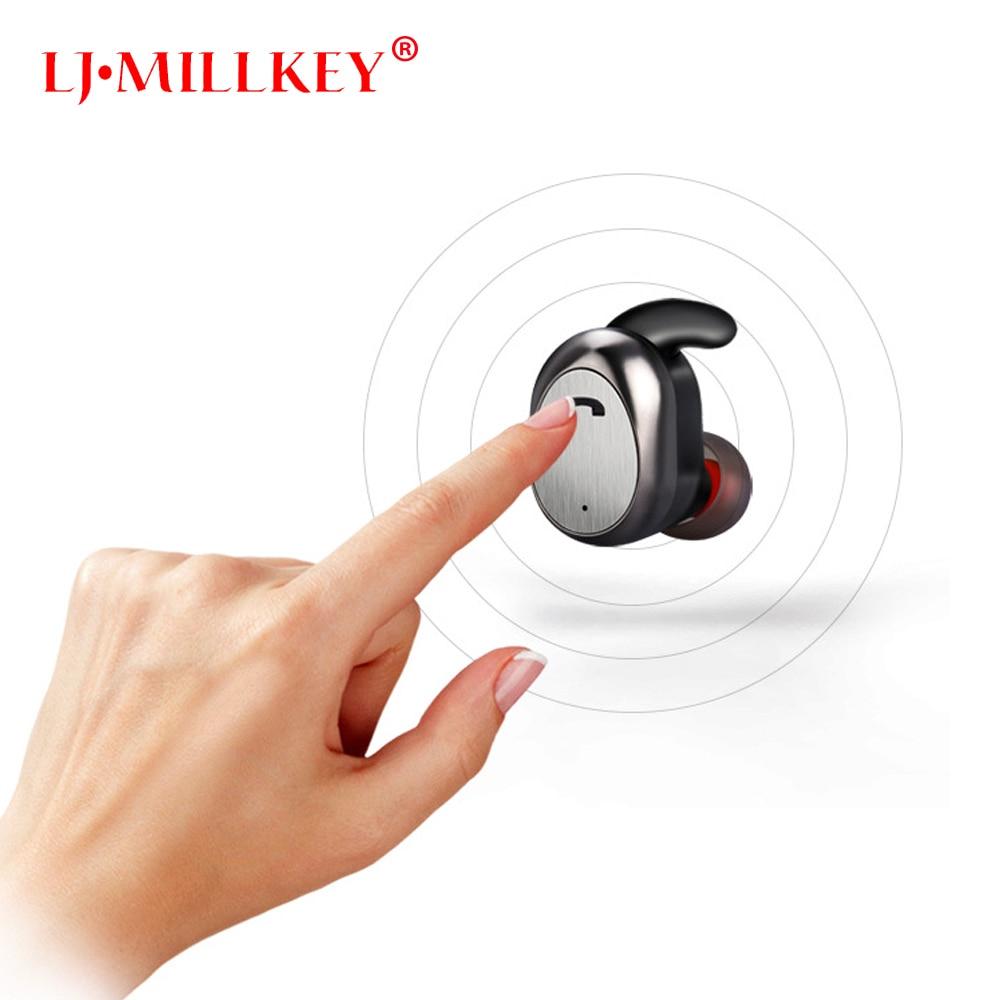 2018 Bluetooth font b Earphone b font TWS True Wireless Earbuds Bluetooth 4 1 Stereo font
