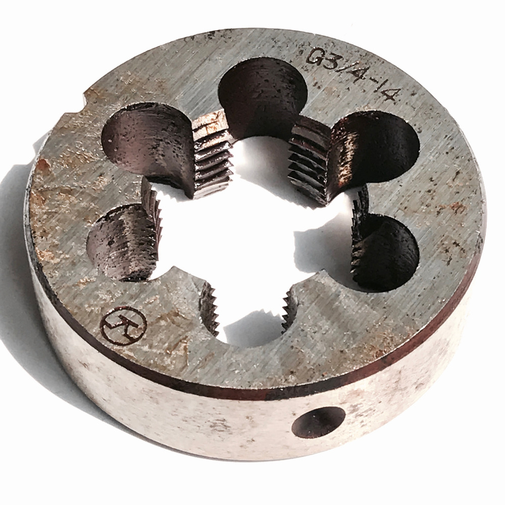 Free shipping of 1PC BSP Die G3/4-14 pipe threading Die threading Tools Lathe Model Engineer Thread Maker for water pipe work free shipping of 1pc alloy steel made 2 10 uns die threading tools lathe model engineer thread maker