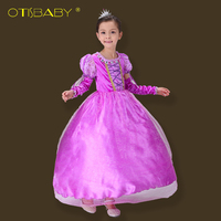 Brand Girls Princess Sofia Dress Kids Rapunzel Cinderella Tutu Dress For Girl Christmas Children Cosplay Party