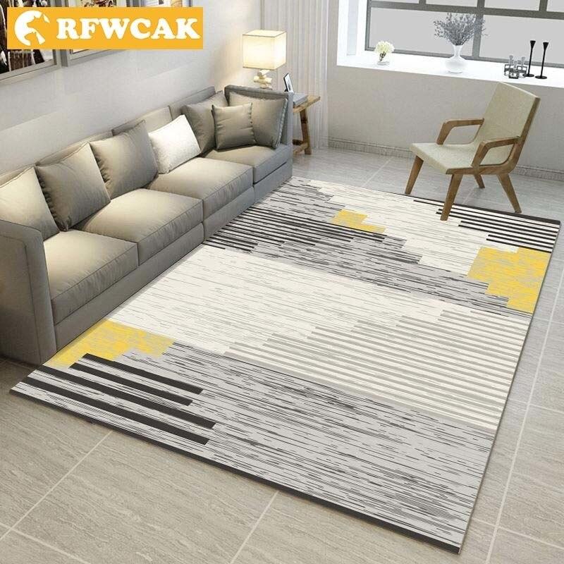 RFWCAK Modern Living Room Baby Crawl Land Pad Tea Table Bedroom Kitchen Carpet Rug Hallway Floor Mat Door Mat Tapete Doormat
