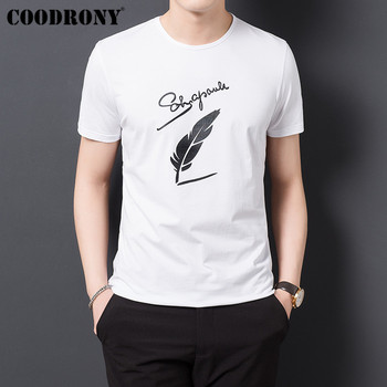 COODRONY T Shirt Men Clothes 2019 Summer Short Sleeve Tee Homme Streetwear Fashion O-Neck Tshirt Cotton T-Shirt S95128 - discount item  50% OFF Tops & Tees