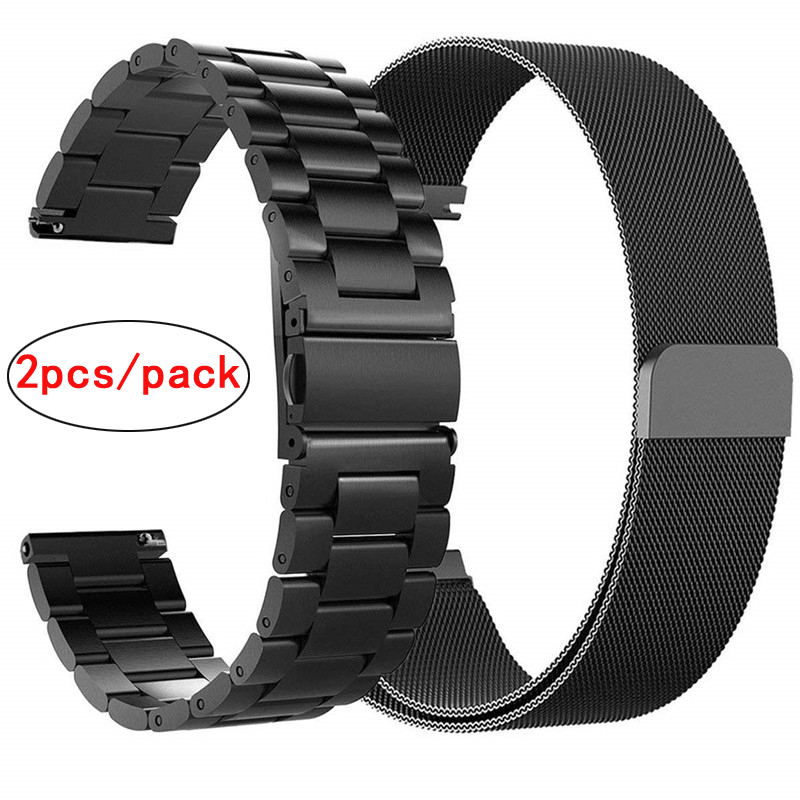 Watch-Strap Stainless-Steel 46mm/gear Samsung Milanese 22mm for Galaxy 42mm 20mm S3