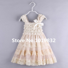 Posh Flower Girl Dress-Children Girl Party Dress-Girl Peagant Lace Dress