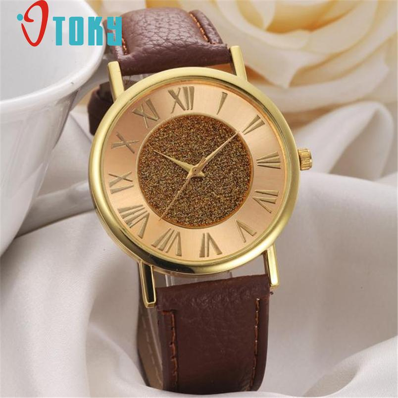 chinese wrist watch for Women Fashion Glitter Dial Leather Band Analog Quartz Wrist Watch Watches relogio uhren Ma31 new fashion women retro digital dial leather band quartz analog wrist watch watches wholesale 7055
