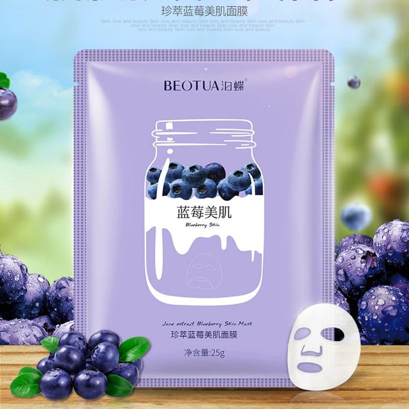 1pcs Facial Mask Skin Care Blueberry/ Avocado /Strawberry Moisturizing Facial Tender Mask Anti Wrinkle Whitening Nourishing Mask